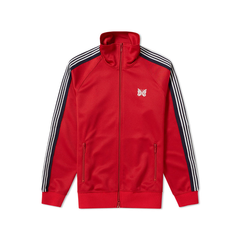 NEEDLES POLY TRACK JACKET RED