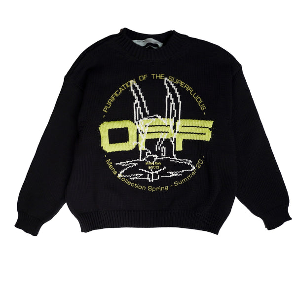 OFF-WHITE HARRY THE BUNNY KNIT JUMPER