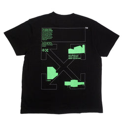 OFF-WHITE GOLDEN RATIO PRINT TEE BLACK