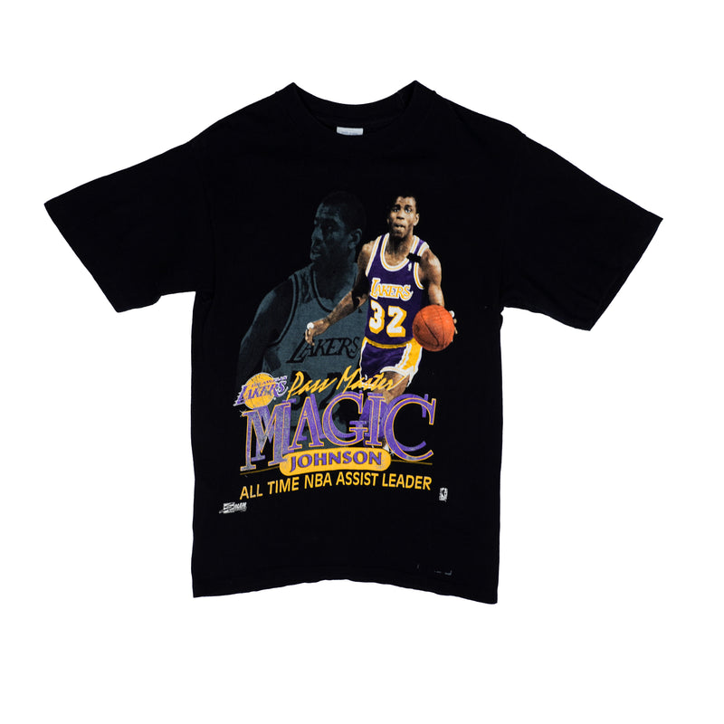 90'S VINTAGE SALEM MAGIC JOHNSON ALL TIME NBA ASSIST LEADER TEE