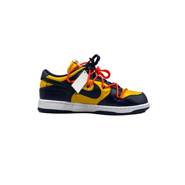 OFF WHITE X NIKE DUNK LOW UNIVERSITY GOLD MIDNIGHT NAVY
