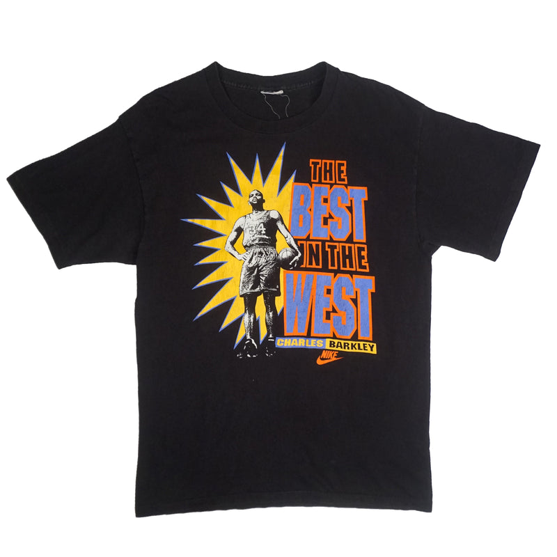 "90'S VINTAGE NIKE CHARLES BARKLEY ""THE BEST IN THE WEST TEE"""