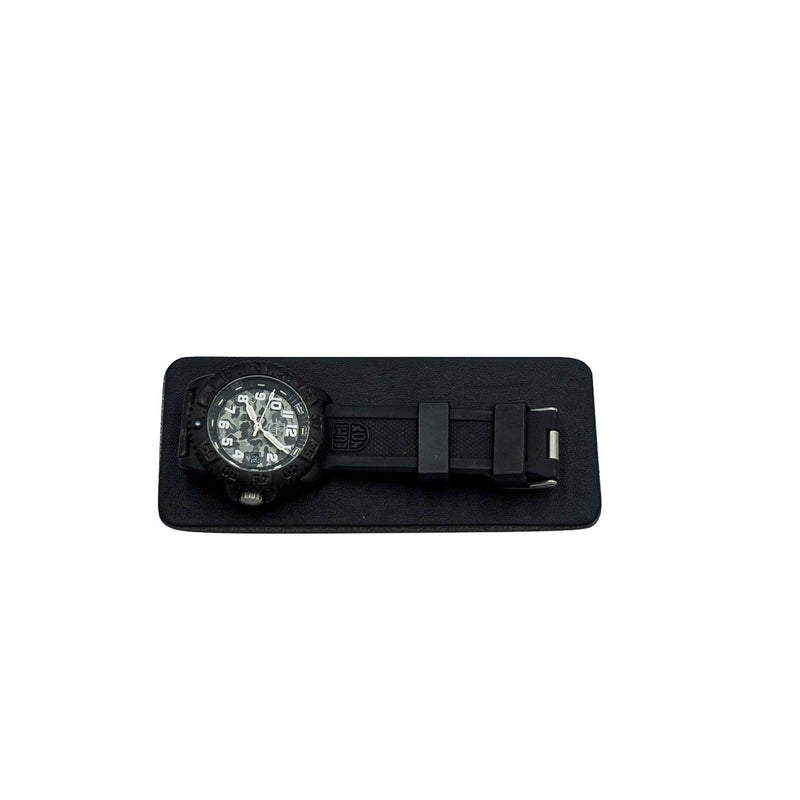 A BATHING APE X STUSSY LUMINOX WATCH BLACK/GRAY CAMO