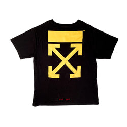 OFF-WHITE CARAVAGGIO CUT OFF T-SHIRT BLACK