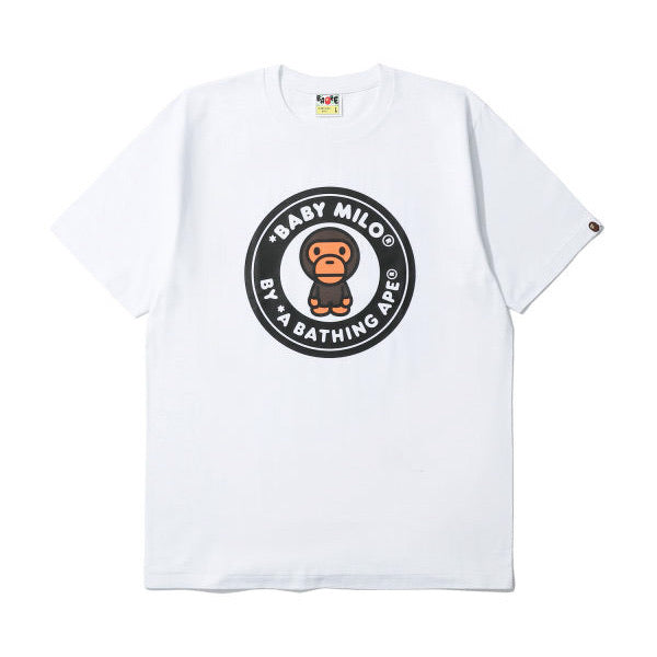 A BATHING APE BUSY WORKS BABY MILO TEE WHITE