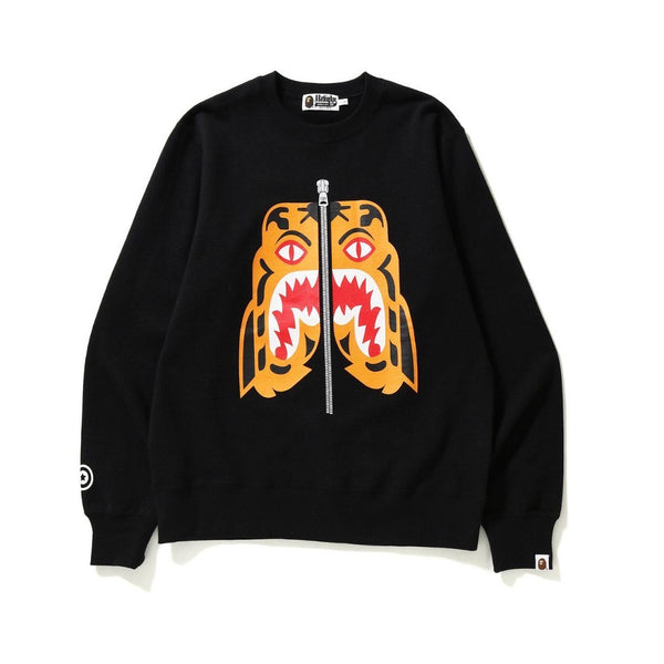 A BATHING APE TIGER CREWNECK BLACK