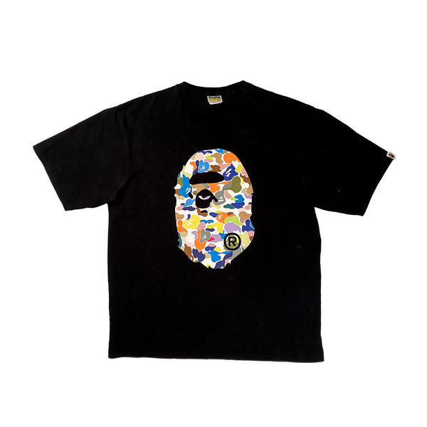 A BATHING APE MULTI CAMO BIG APE HEAD TEE