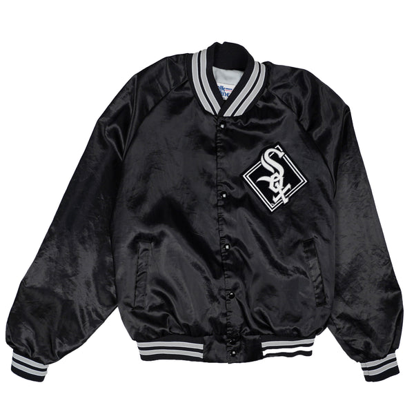 90'S VINTAGE CHICAGO SOX SATIN BOMBER JACKET