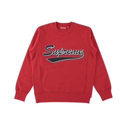 SUPREME BRUSH SCRIP CREWNECK RED