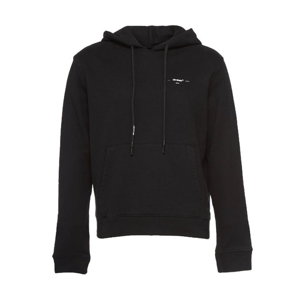 OFF-WHITE ARROWS LOGO SLIM HOODIE BLACK