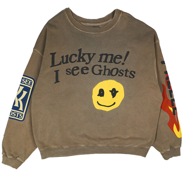 KID CUDI X  CACTUS PLANT FLEA MARKET KIDS SEE GHOTS LUCKY ME CREWNECK