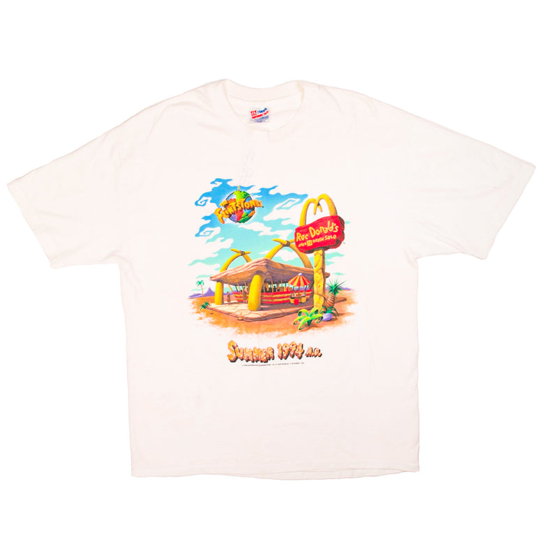 1994 VINTAGE THE FLINTSTONES ROC DONALDS TEE