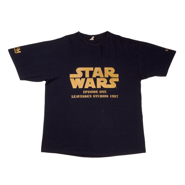 1997 VINTAGE STAR WARS EPISODE 1 LEAVESDEN STUDIOS TEE