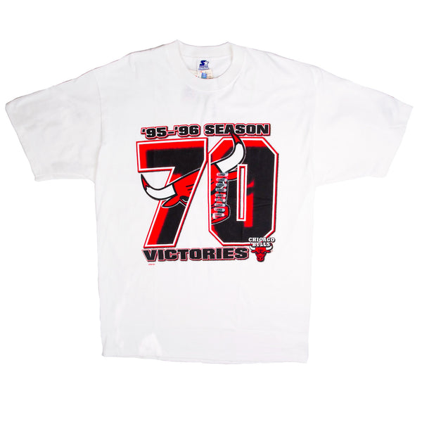 1996 VINTAGE CHICAGO BULLS 70 VICTORIES TEE