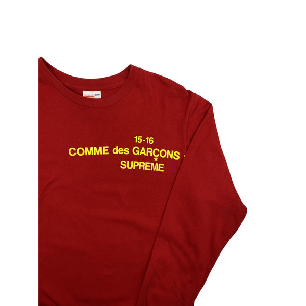 FW15 SUPREME COMME DES GARCONS LONG SLEEVE RED