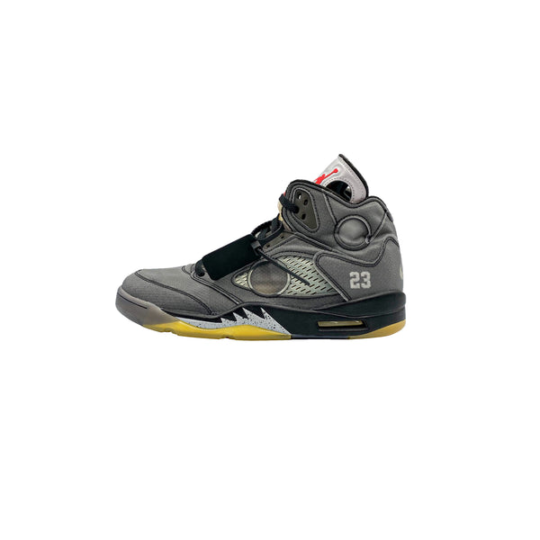 OFF WHITE JORDAN 5 RETRO BLACK
