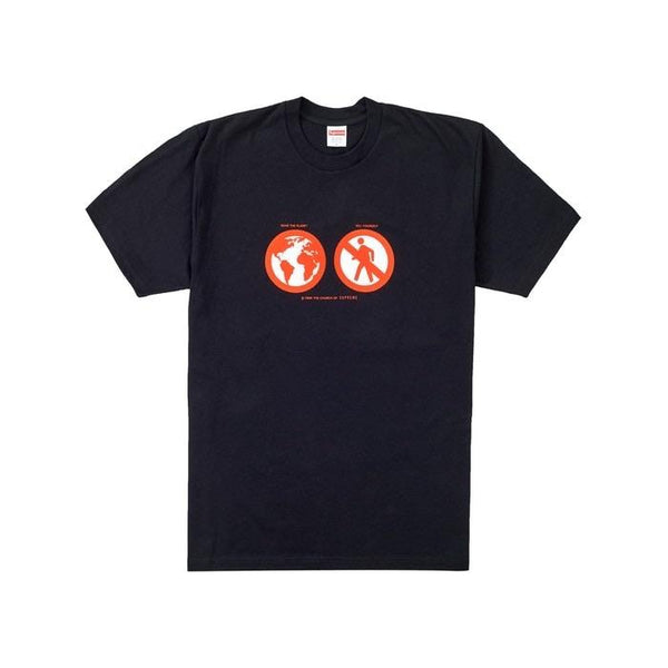 SUPREME SAVE THE PLANET TEE BLACK