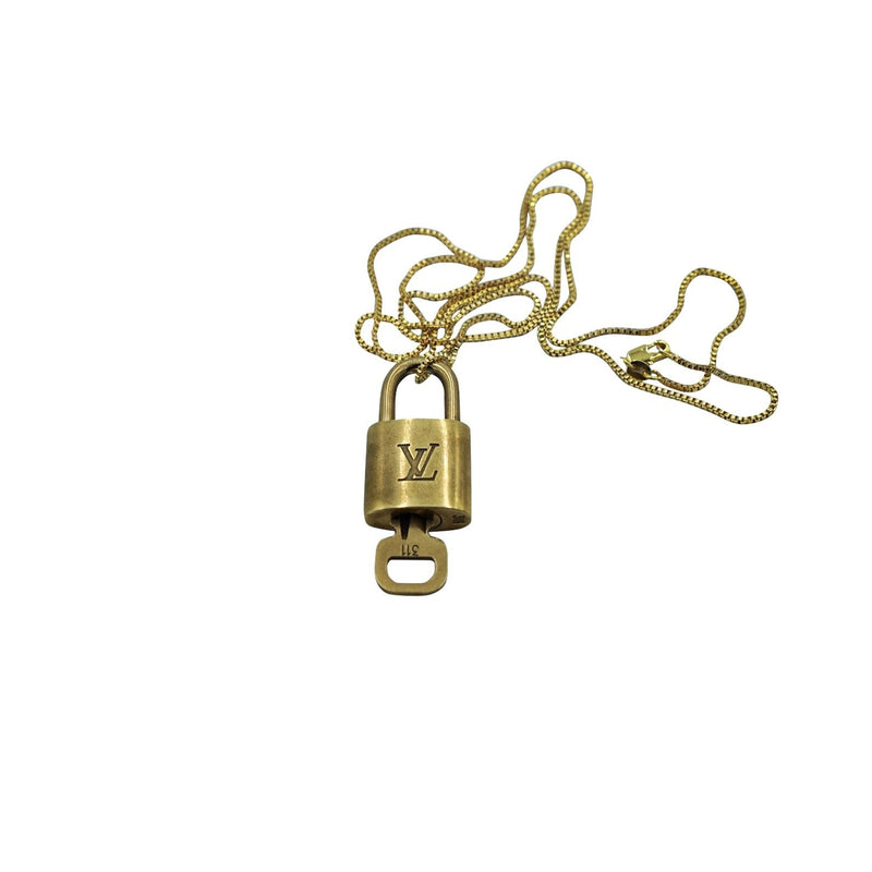 LOUIS VUITTON GOLD BRASS CADENA KEY LOCK