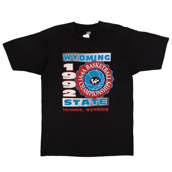 1992 VINTAGE WYOMING STATE BASKETBALL TEE