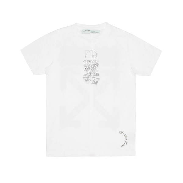 OFF-WHITE DRIPPING ARROWS SLIM TEE WHITE