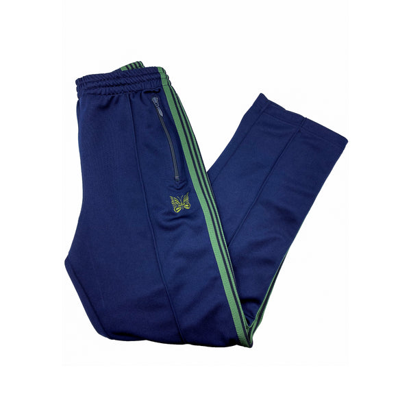 NEEDLES NARROW TRACK PANT NAVY GREEN
