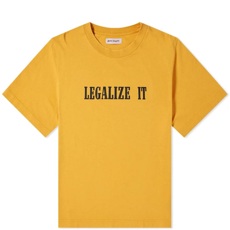 PALM ANGELS LEGALIZE IT TEE YELLOW