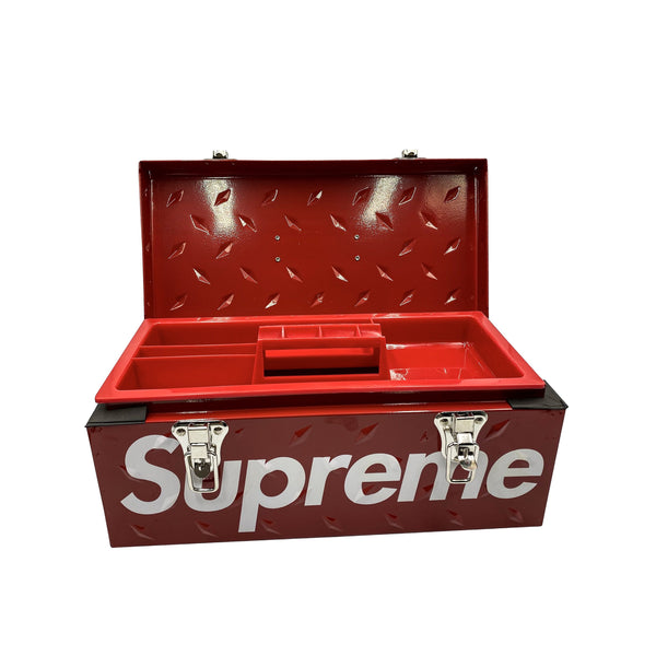SUPREME DIAMOND PLATE TOOL BOX RED