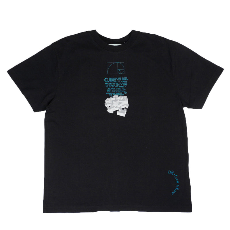 OFF-WHITE GOLDEN RATIO ARROWS DRIPPING TEE BLACK