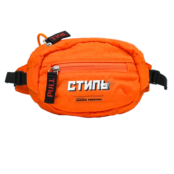 HERON PRESTON ORANGE LOGO PATCH WAIST BAG