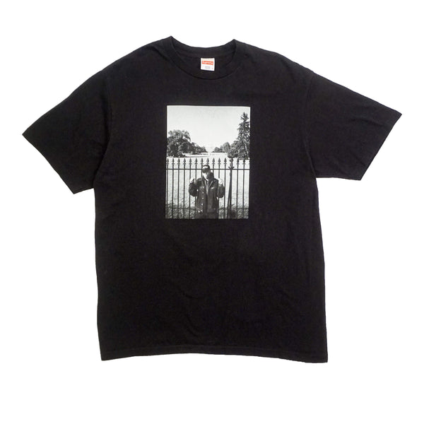 SUPREME X UNDERCOVER/PUBLIC ENEMY WHITE HOUSE TEE BLACK