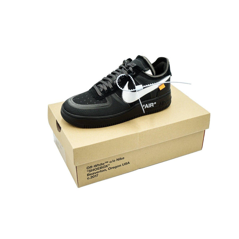 "OFF-WHITE X NIKE AIR FORCE 1 LOW ""BLACK WHITE""-Sneakers-Nike-US 8.5 / EU 42-HYPESTEIN"
