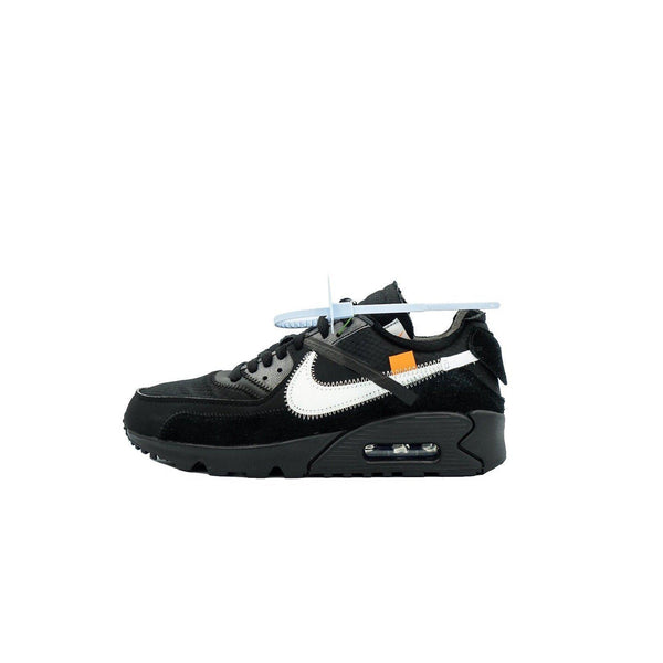 "OFF WHITE X NIKE AIR MAX 90 ""BLACK""-Sneakers-Nike-US 6.5 / EU 39-HYPESTEIN"