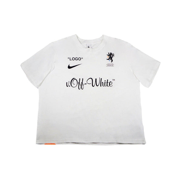 OFF WHITE X NIKE LAB MERCURIAL NRG TEE WHITE-T-Shirts-Nike-L (PRE-OWNED)-HYPESTEIN