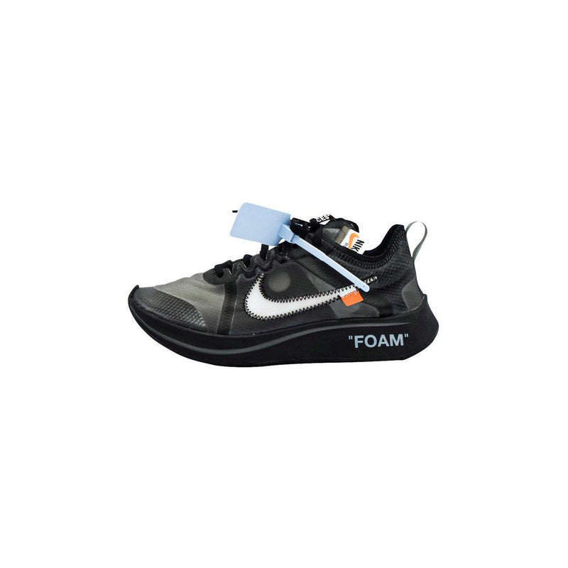 "OFF WHITE X NIKE ZOOM FLY ""BLACK SILVER""-Sneakers-Nike-HYPESTEIN"