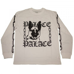 SS15 PALACE P-CHAIN LONG SLEEVE WHITE