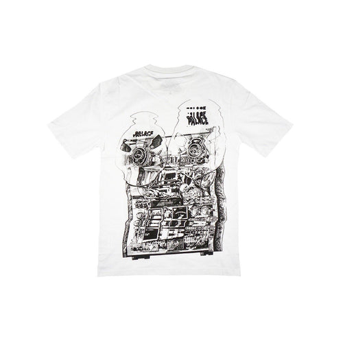 "PALACE TRI WOBBLE T-SHIRT ""WHITE""-T-Shirts-Palace-S-HYPESTEIN"