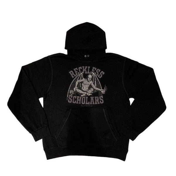 RECKLESS SCHOLARS METAL-HEAD STUD HOODIE