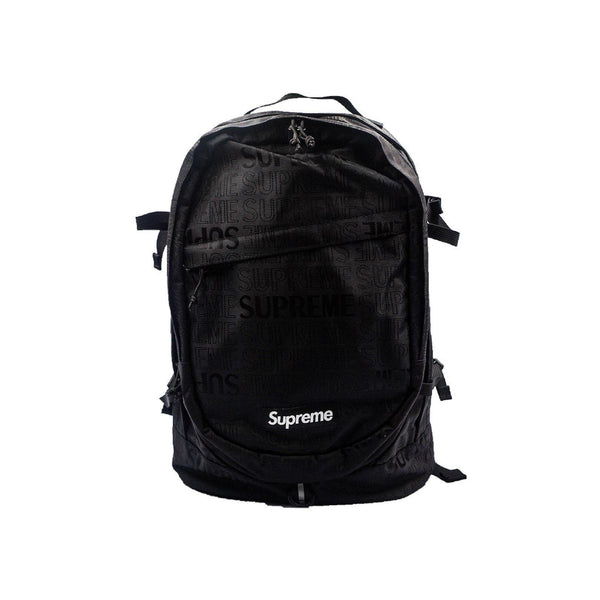 SUPREME BACKPACK BLACK SS 19-Accessories-Supreme-OS-HYPESTEIN
