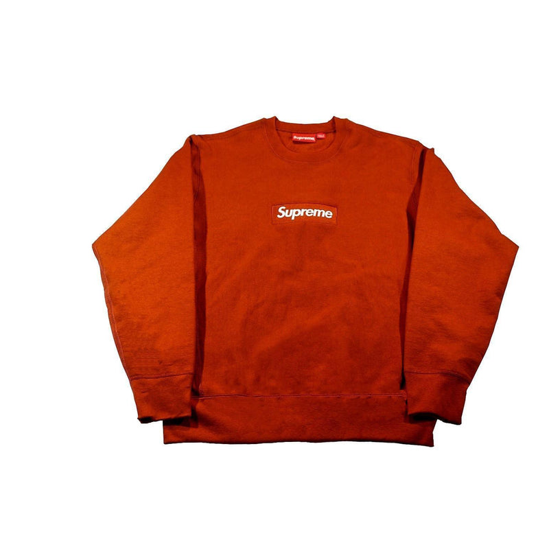SUPREME BOX LOGO CREWNECK RUST-Hoodies and Sweatshirts-Supreme-M-HYPESTEIN