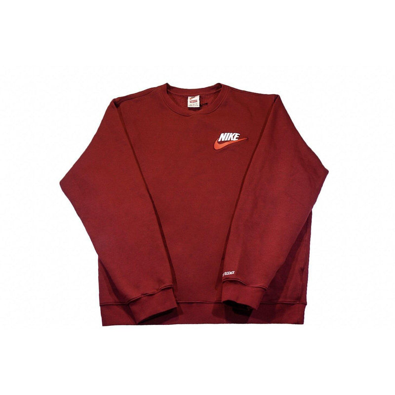 SUPREME X NIKE CREWNECK BURGUNDY-Hoodies and Sweatshirts-Supreme-XL-HYPESTEIN
