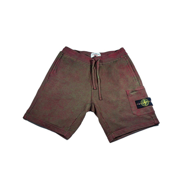 SUPREME X STONE ISLAND SWEATSHORT RED-Bottoms-Supreme-M-HYPESTEIN