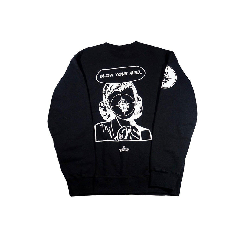 SUPREME X UNDERCOVER/PUBLIC ENEMY CREWNECK SWEATSHIRT BLACK-Hoodies and Sweatshirts-Supreme-M-HYPESTEIN