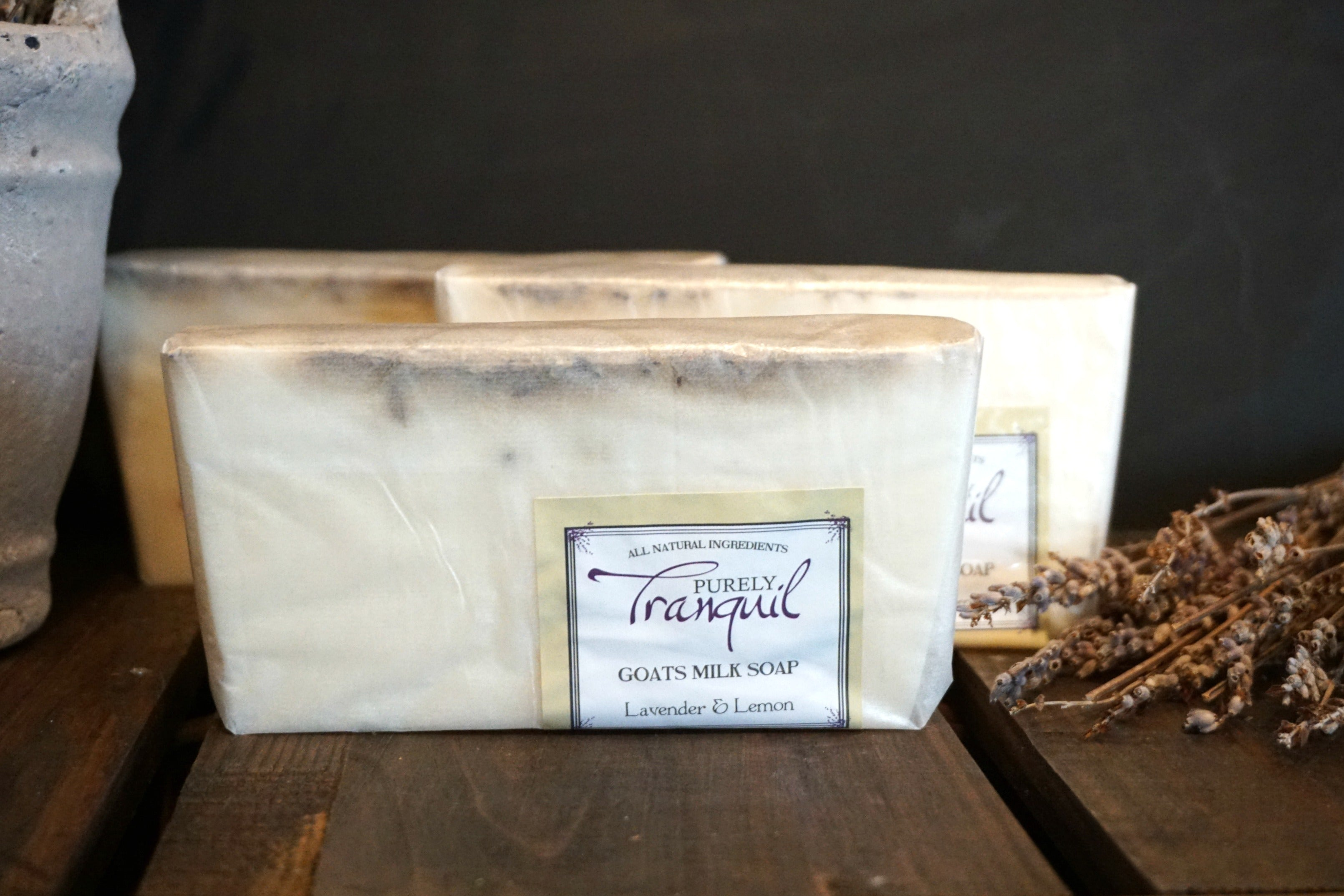 Purely Tranquil Goat Milk Bar Soap