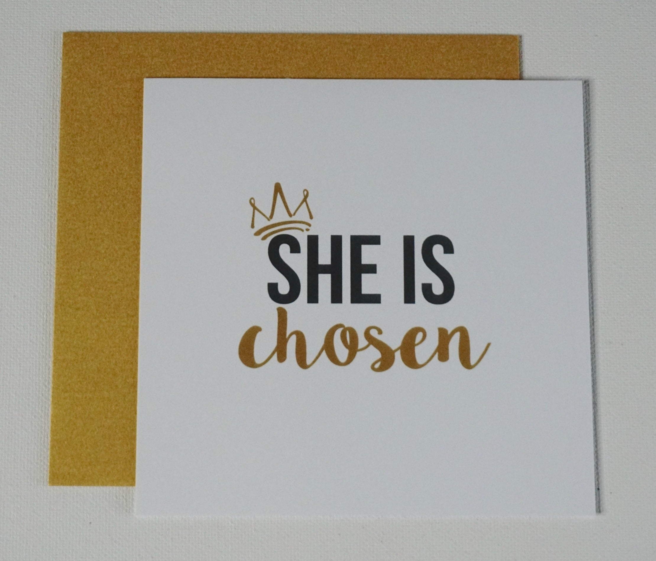 SHE IS Chosen Greeting Card