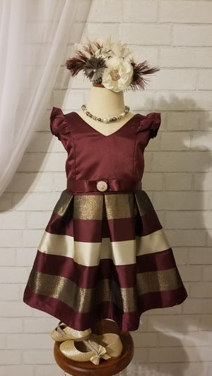 Fancy Bordeaux Holiday Dress