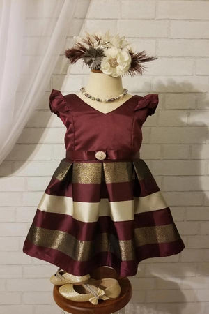 Fancy Vintage Inspired Headpiece - Cream and Burgundy