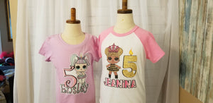 LOL Doll Unicorn Fitted Tee - 4 Colors, 6 Other Doll Options