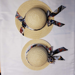 Mommy & Me Nautical Straw Hats