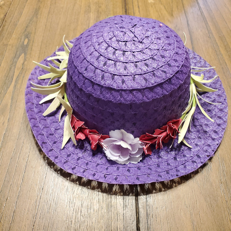 Toddler Girl Purple Passion Straw Hat
