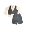 3 Piece Vest Short Set